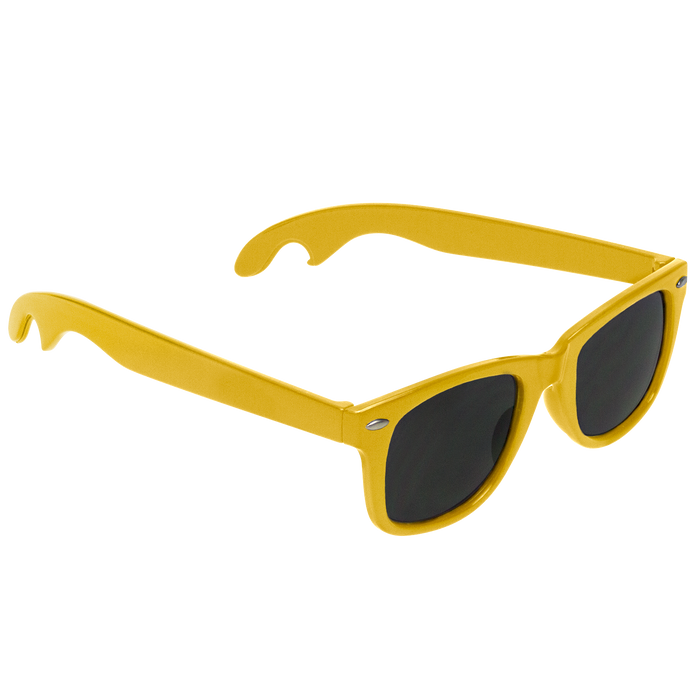 Yellow Panama Bottle Opener Sunglasses