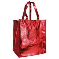 Metallic Red Metallic Big Storm Grocery Bag Thumb