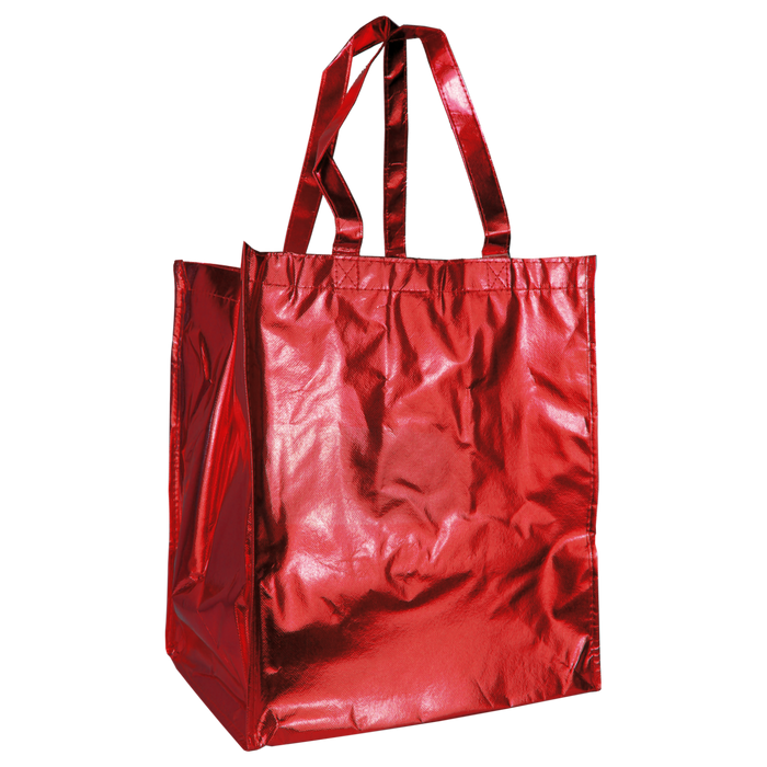 Metallic Red Metallic Big Storm Grocery Bag