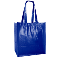 Royal Blue Laminated Little Storm Grocery Bag Thumb