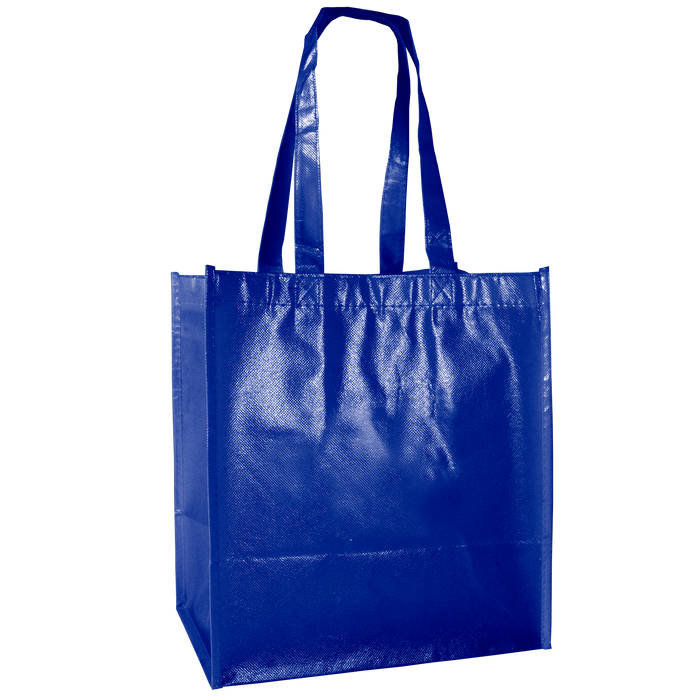 Royal Blue Laminated Little Storm Grocery Bag