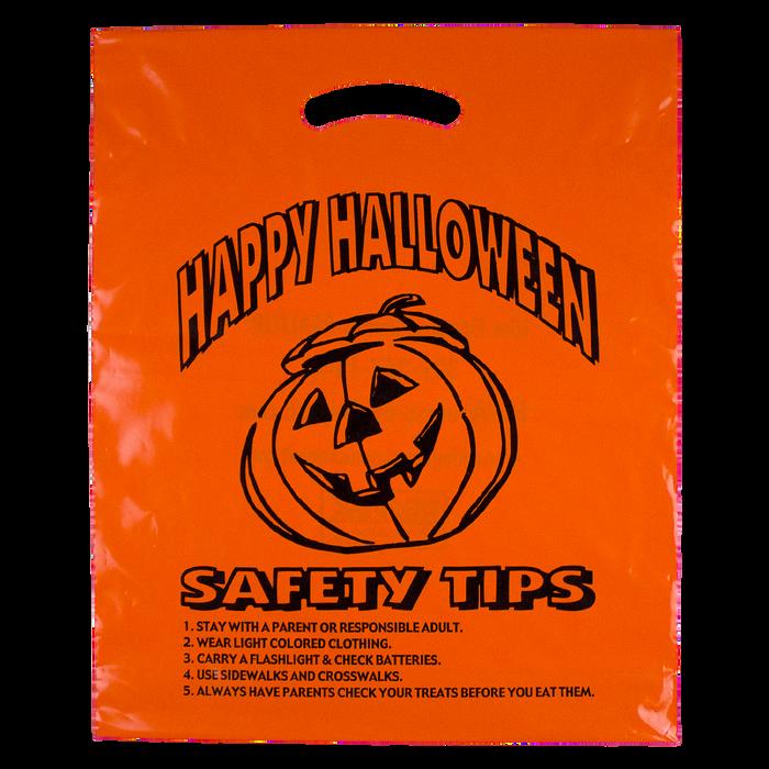 Orange Orange Pumpkin Safety Tips Bag