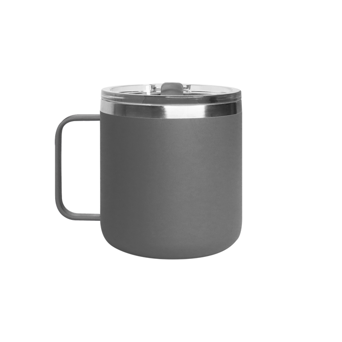 Matte Grey Stainless Steel Insulated Camper Mug