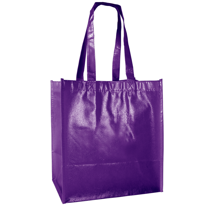 Purple Laminated Little Storm Grocery Bag