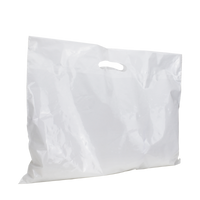 White Extra Wide Die Cut Plastic Bag Thumb