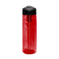 Red Sport Water Bottle with Flip Up Straw Thumb