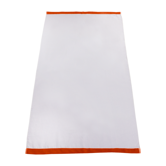 Orange Colored Edge Beach Towel
