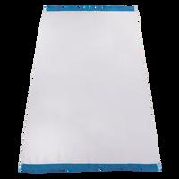 Turquoise Heavyweight Colored Edge Beach Towel Thumb