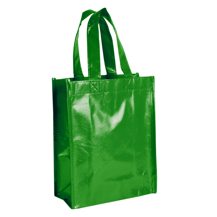 Lime Green Laminated Fiesta Tote