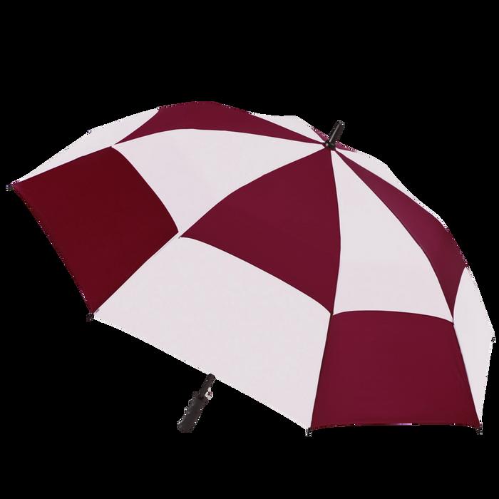 Burgundy/White Hydra totes® Umbrella