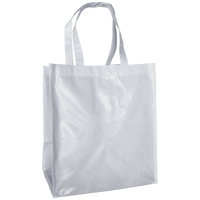 White Laminated Big Storm Grocery Bag Thumb