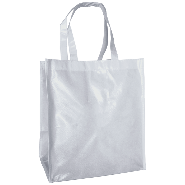 White Laminated Big Storm Grocery Bag