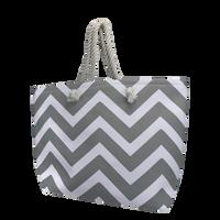 Grey Cabana Beach Bag Thumb