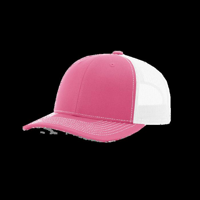Pink/White Richardson Trucker Snapback Hat