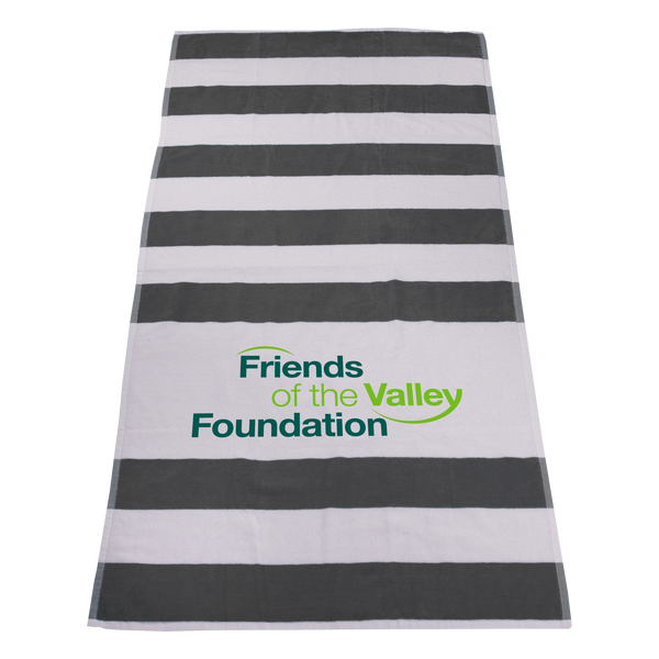 striped beach towels,  best selling towels,  silkscreen imprint,