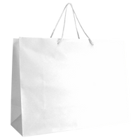White Large Matte Shopper Bag Thumb