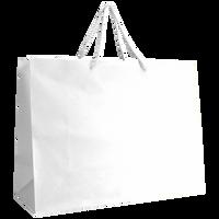 White Large Matte Shopper Bag Thumb