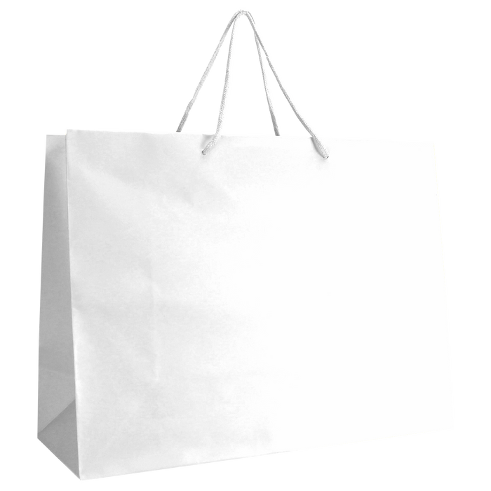 White Large Matte Shopper Bag