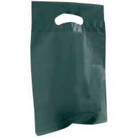 Hunter Green Small Recyclable Die Cut Plastic Bag Thumb