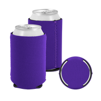 Dark Purple Premium Collapsible Neoprene Koozie Thumb