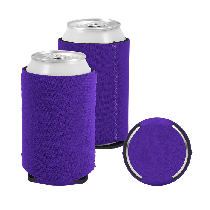 Dark Purple Premium Collapsible Neoprene Koozie