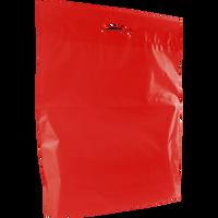 Red Large Eco-Friendly Die Cut Plastic Bag Thumb