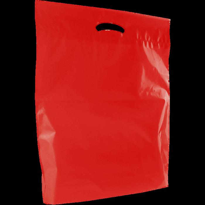Red Large Eco-Friendly Die Cut Plastic Bag