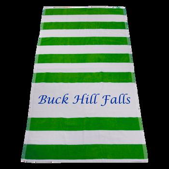 striped beach towels,  imprinted beach towels,