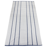 Navy Bali Striped Beach Towel Thumb