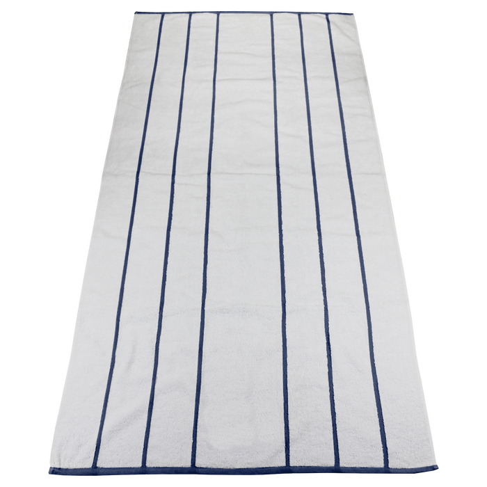 Navy Bali Striped Beach Towel