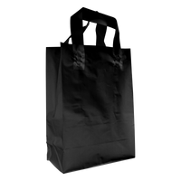 Black Medium Frosted Plastic Shopper Thumb