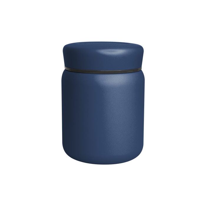 Matte Navy Stainless Steel Insulated Food Canister
