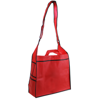 Red Messenger Tote Bag Thumb