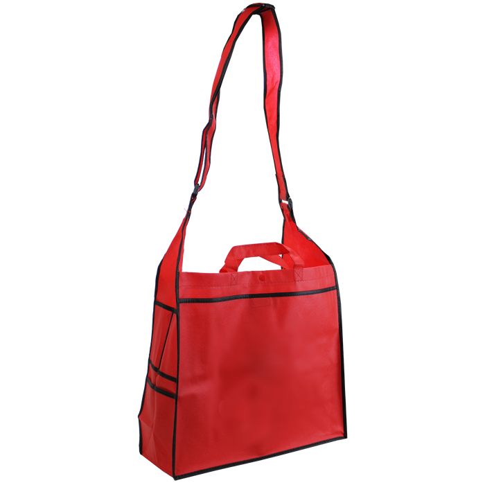 Red Messenger Tote Bag
