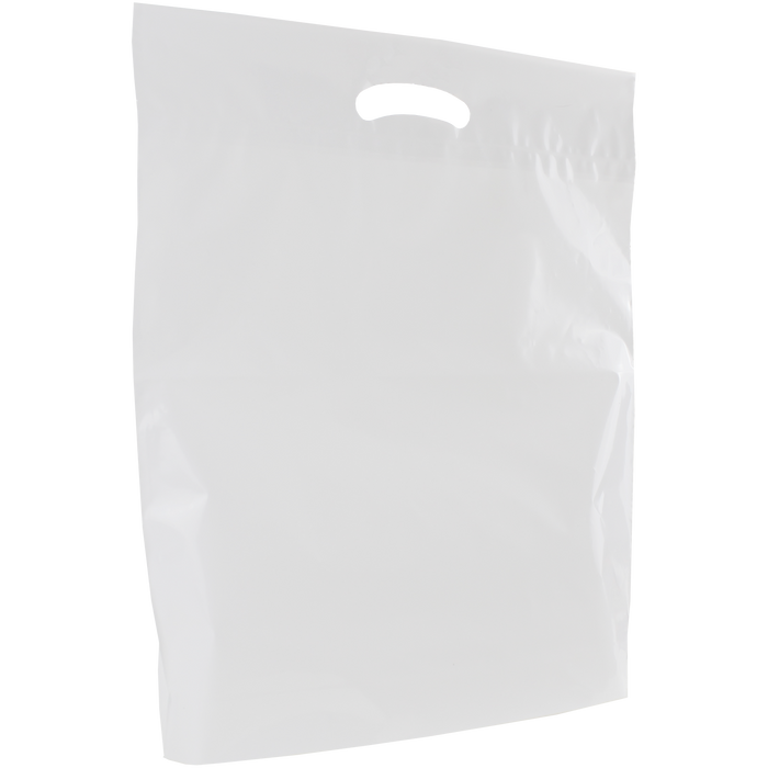 White Large Eco-Friendly Die Cut Plastic Bag