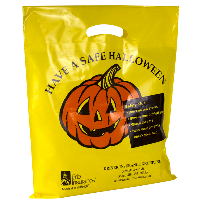 Yellow Pumpkin Halloween Bag