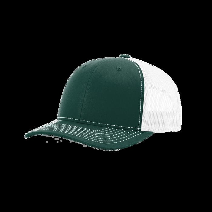 Dark Green/White Richardson Trucker Snapback Hat