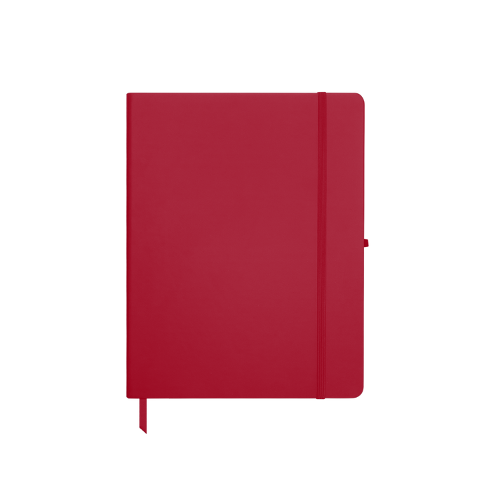 Red Medium Soft Faux Leather Journal