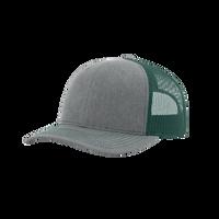 Heather Grey/Dark Green Richardson Trucker Snapback Hat Thumb