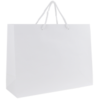 White Medium Glossy Shopper Bag Thumb
