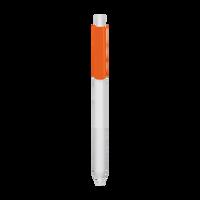 Orange with Blue Ink Antibacterial Pen Thumb