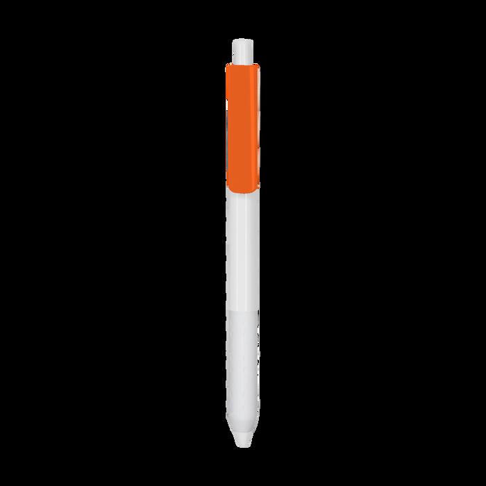Orange with Blue Ink Antibacterial Pen