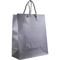 Platinum Small Glossy Shopper Bag Thumb