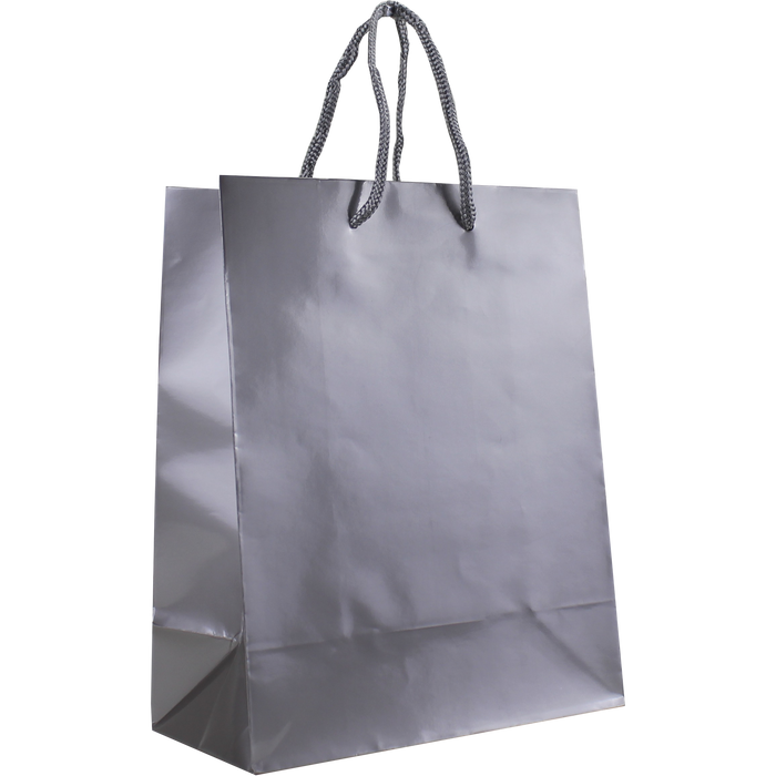 Platinum Small Glossy Shopper Bag