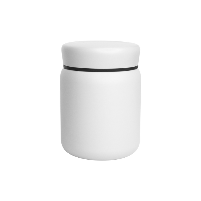 Matte White Stainless Steel Insulated Food Canister