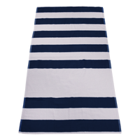Navy Horizon Striped Beach Towel Thumb