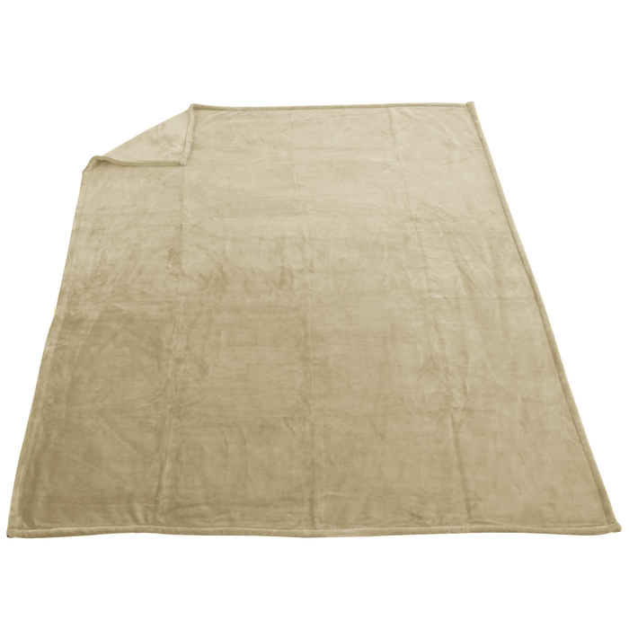 Beige Taos Microfleece Throw