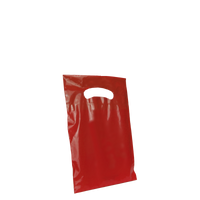 Red Extra Small Eco-friendly Die Cut Plastic bag Thumb