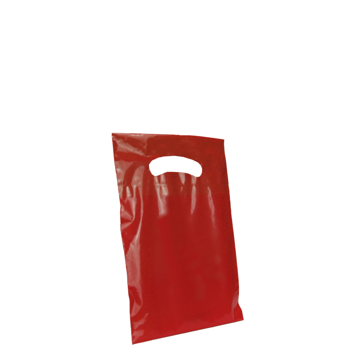 Red Extra Small Eco-friendly Die Cut Plastic bag