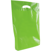 Lime Medium Eco-Friendly Die Cut Plastic Bag Thumb